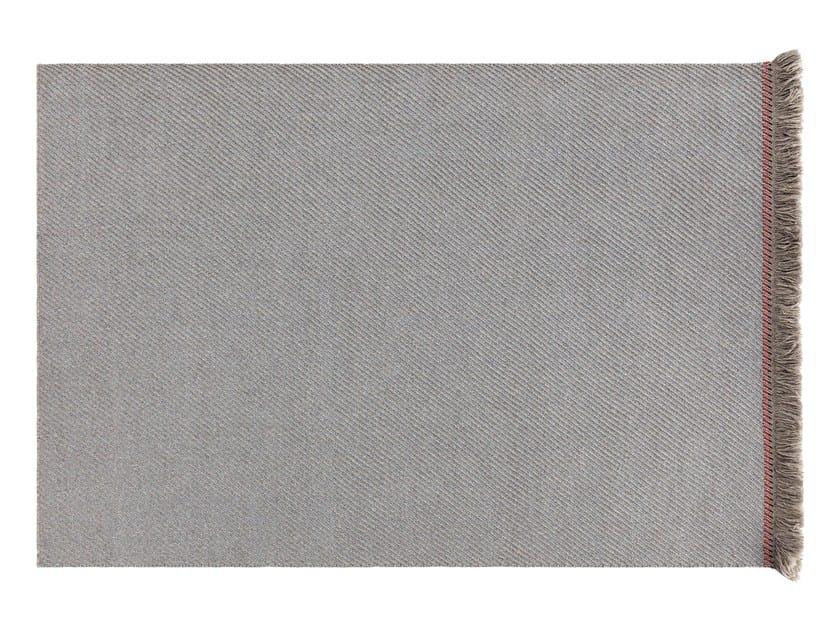Solid-color rectangular polypropylene outdoor rugs GARDEN LAYERS BLUE | Rectangular rug by GAN