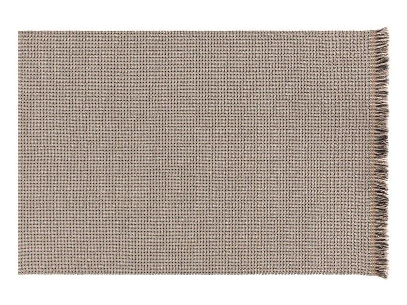 Patterned rectangular polypropylene outdoor rugs GARDEN LAYERS TERRACOTTA   Rectangular rug by GAN