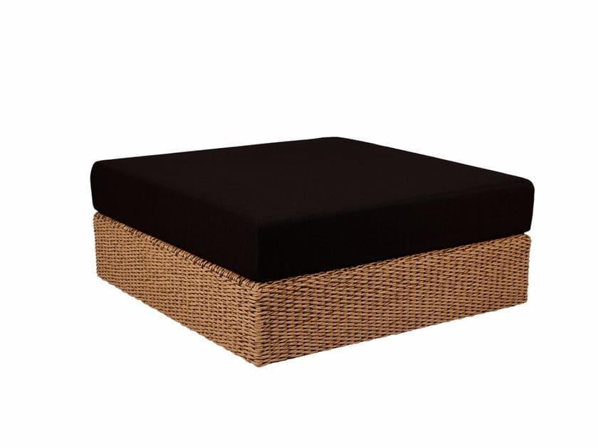 Square fabric garden pouf ABONDO | Garden pouf - ROYAL BOTANIA