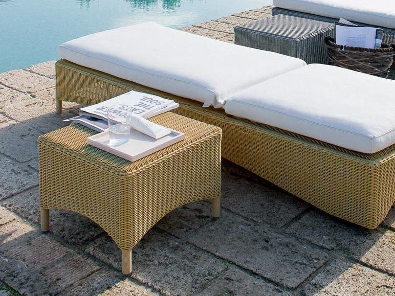 Square garden side table CAPRI | Garden side table by Unopiù