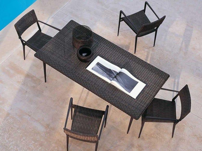 Rectangular garden table EXPERIENCE | Garden table by Unopiù