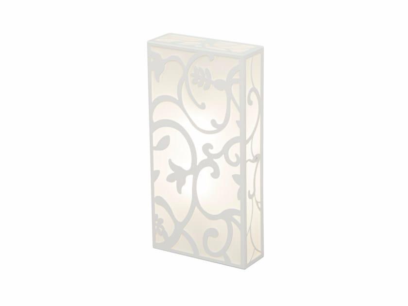 Indirect light glass and steel wall light GARDEN | Wall light - Gibas