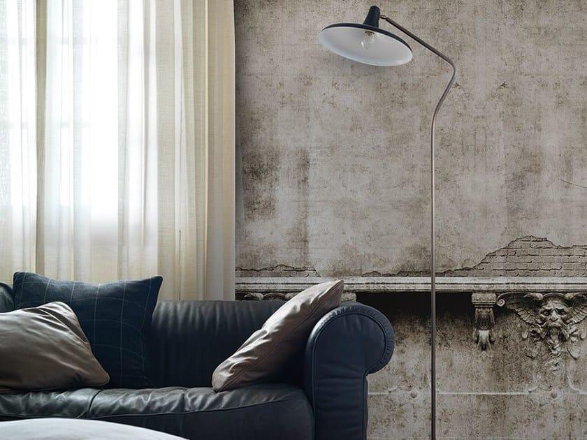 Carta da parati effetto muro panoramica GARGOYLE - Inkiostro Bianco