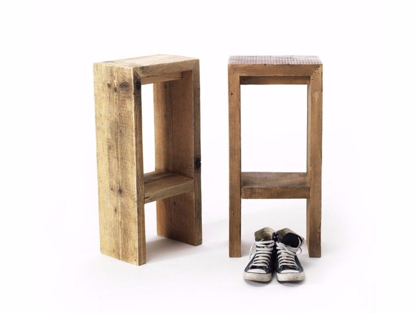 High spruce stool with footrest GATSBY | High stool by Vontree