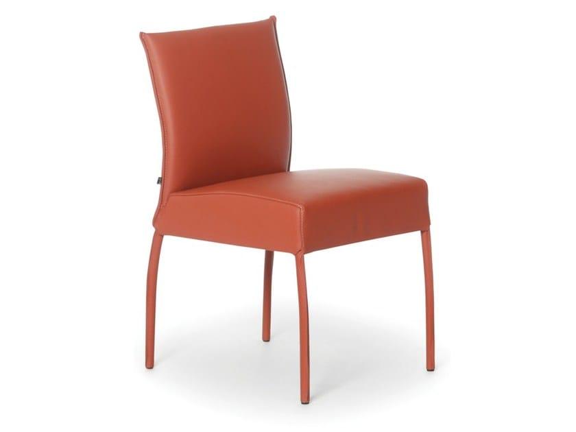 Upholstered leather chair GAUGIN | Chair - Joli