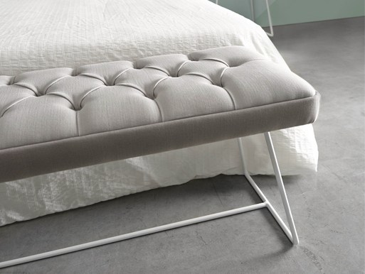Tufted upholstered fabric bench GEMMA | Bench - Altinox Minimal Design