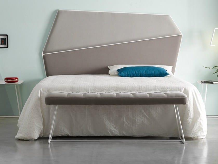 High upholstered headboard for double bed GEMMA | Headboard - Altinox Minimal Design