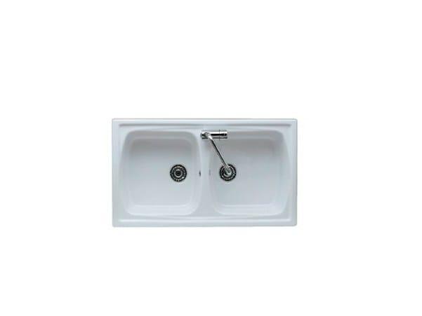 2 bowl built-in sink GENIUS 86 | 2 bowl sink - GALASSIA