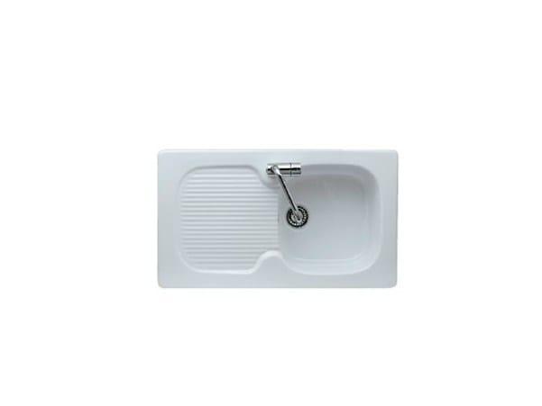 Single built-in sink with drainer GENIUS 86 | Single sink - GALASSIA