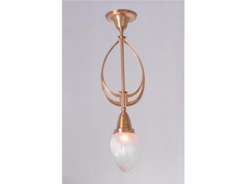 Direct light brass pendant lamp GENOA II | Pendant lamp by Patinas Lighting