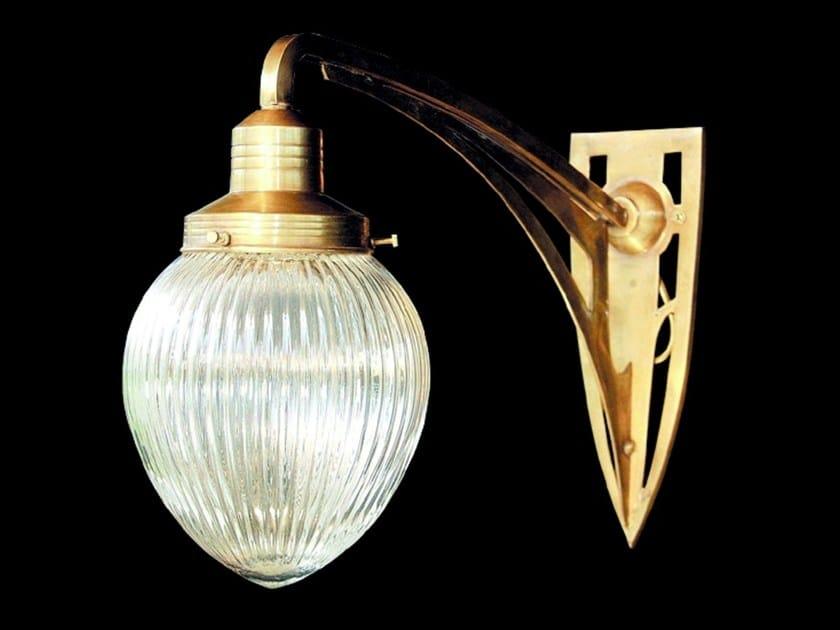 Lampada da parete a luce diretta in ottone GENOA II | Lampada da parete - Patinas Lighting