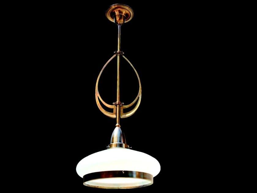 Lampada a sospensione a luce diretta in ottone GENOA III | Lampada a sospensione - Patinas Lighting