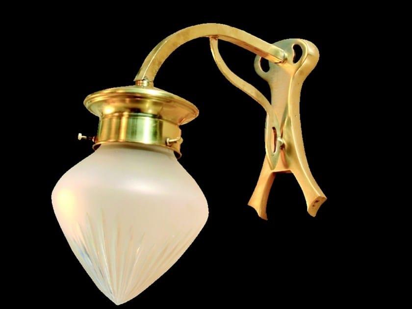 Lampada da parete a luce diretta in ottone GENOA III | Lampada da parete - Patinas Lighting