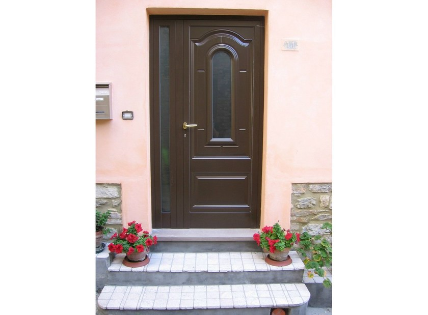 Glass and aluminium armoured door panel GEO/K1 - ROYAL PAT