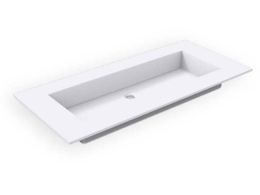 Rectangular Corian® washbasin GEOMETRIC SGM | Inset washbasin - AMA Design