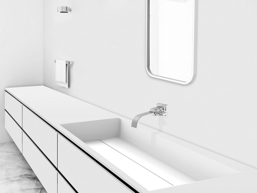 Rectangular Corian® washbasin GEOMETRIC SGP | Undermount washbasin - AMA Design