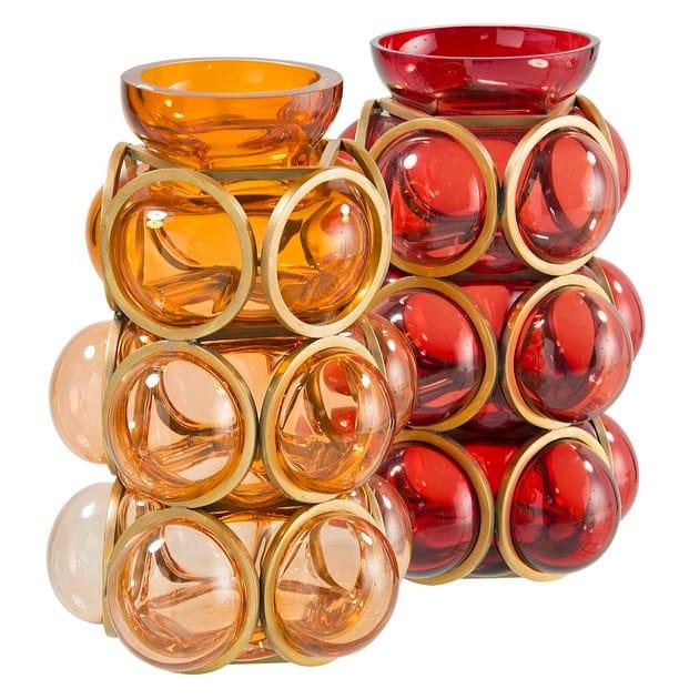 Blown glass vase GEOMETRICS CIRCLE - ROCHE BOBOIS