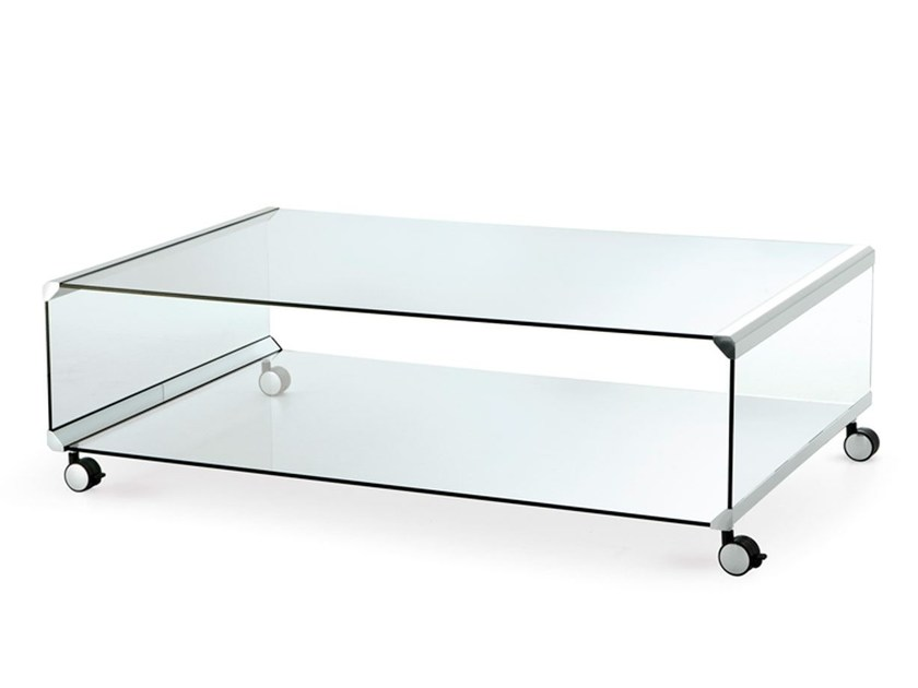 crystal coffee table with casters george 2gallotti&radice