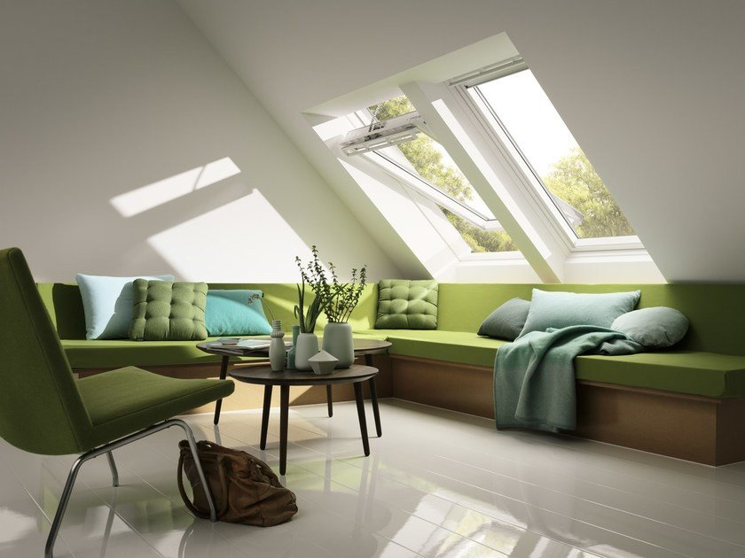 Centre-pivot Manually operated roof window GGU VELUX - VELUX