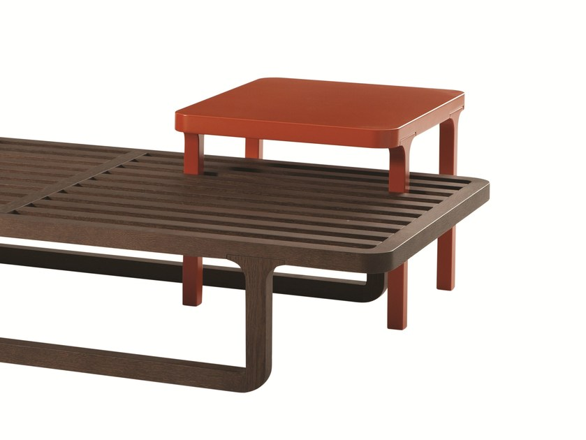 Lacquered square MDF side table GIL   Square coffee table - ROCHE BOBOIS