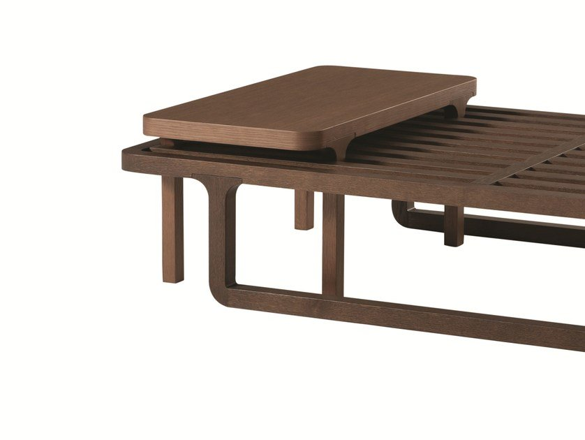 Modular rectangular oak side table GIL | Rectangular side table - ROCHE BOBOIS