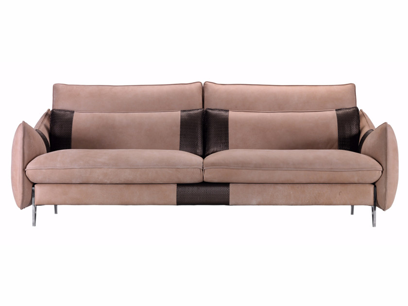2 seater leather sofa GILLES | Leather sofa by Borzalino