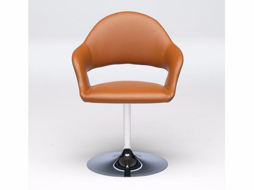Leather chair with armrests GINEVRA - Paolo Castelli