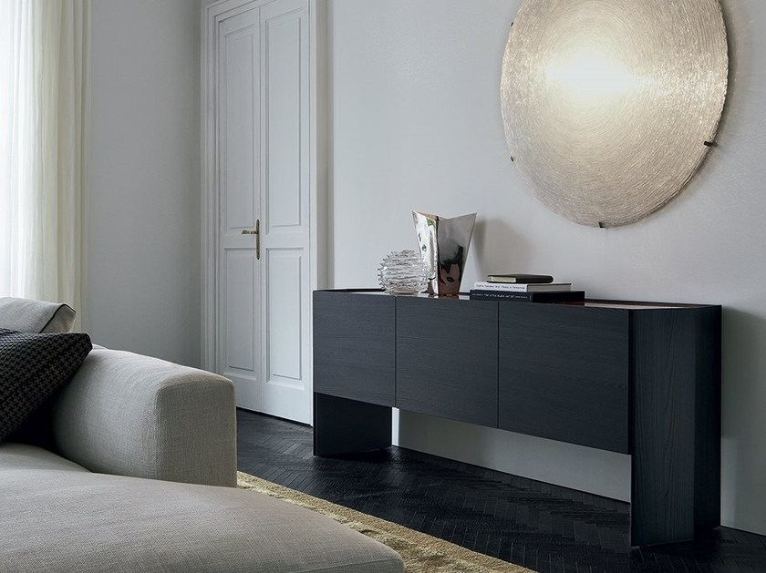 Wooden sideboard with doors GIÒ | Sideboard by poliform