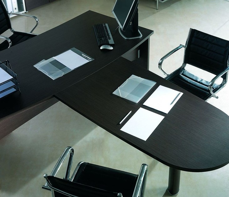 Multiple melamine-faced chipboard office workstation GIOVE G20LWAP by Arcadia