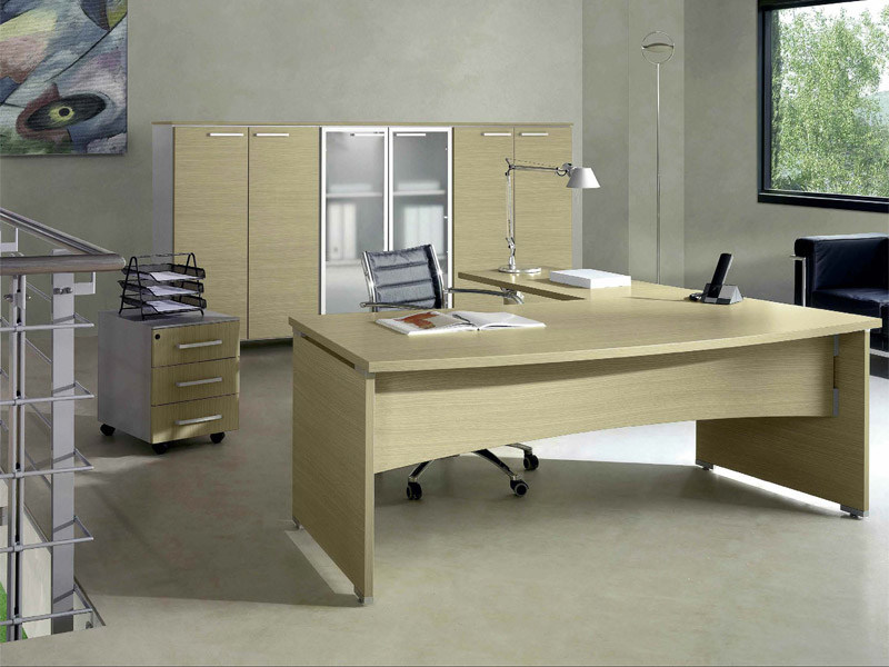 Rectangular melamine-faced chipboard office desk GIOVE G20LWD - Arcadia Componibili - Gruppo Penta