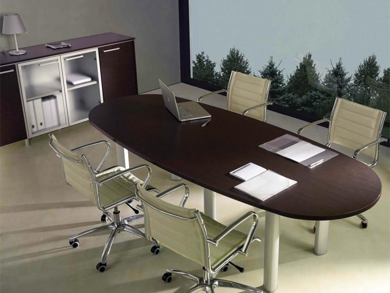 Tavolo da riunione ovale GIOVE G26 by Arcadia