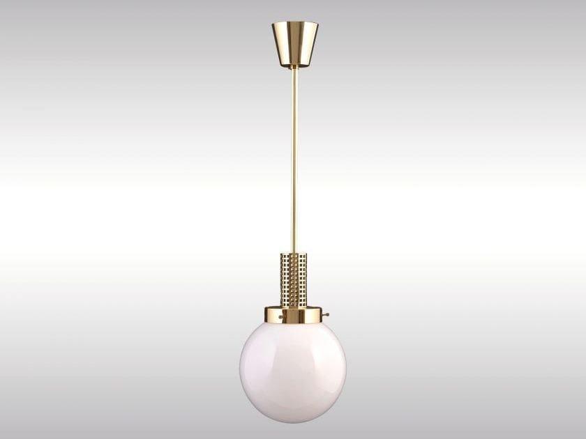 Classic style brass pendant lamp GITTERPENDE-18 - Woka Lamps Vienna