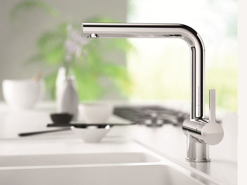 Countertop 1 hole kitchen mixer tap GK GREEN by Gattoni Rubinetteria