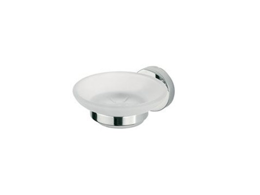 Wall-mounted satin glass soap dish FORUM | Glass soap dish - INDA®