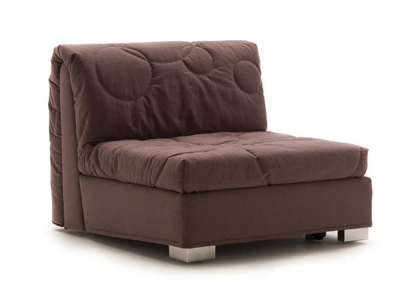 Fabric armchair bed with removable cover GLENN   Armchair bed - Milano Bedding
