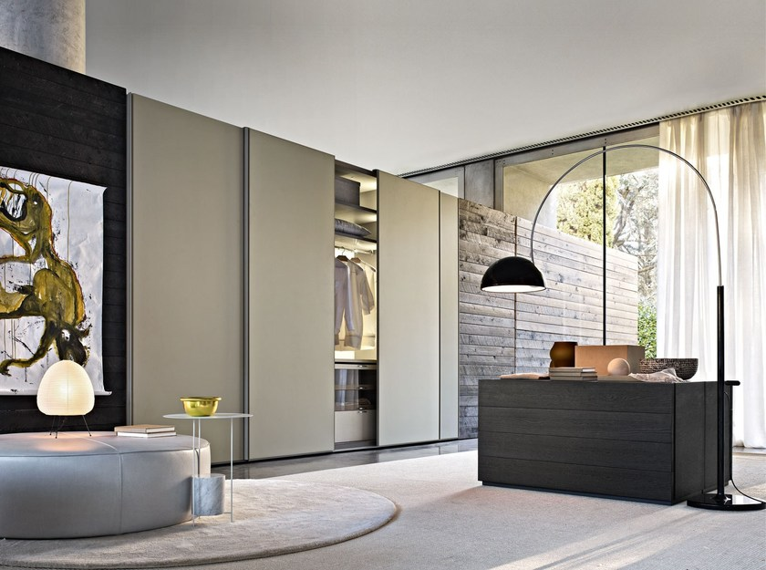 Sectional wardrobe with sliding doors GLISS QUICK FLUSH SLIDING - MOLTENI & C.