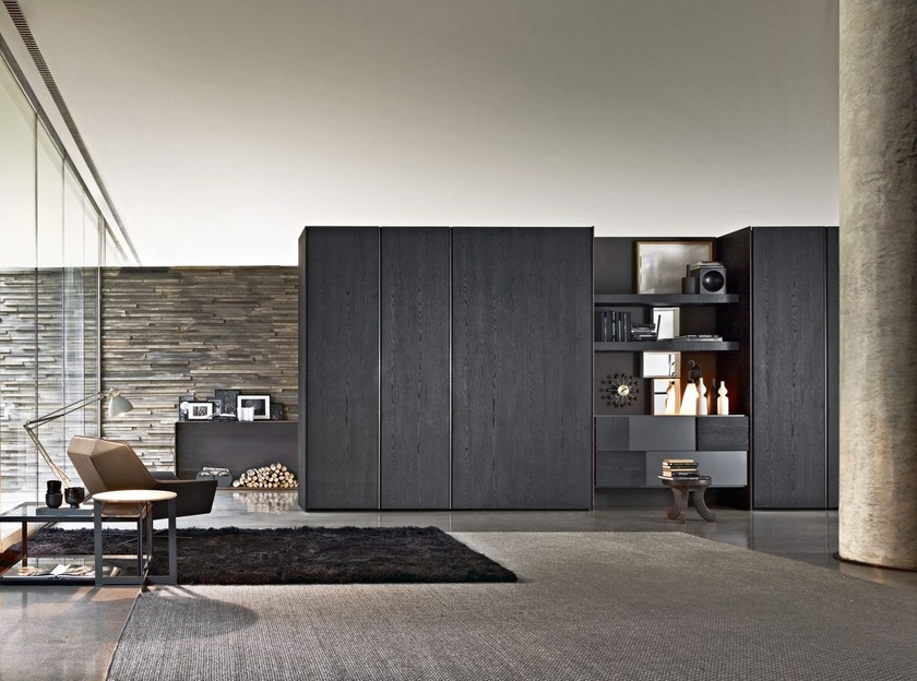 Sectional wardrobe with coplanar doors GLISS QUICK SLIDING - MOLTENI & C.