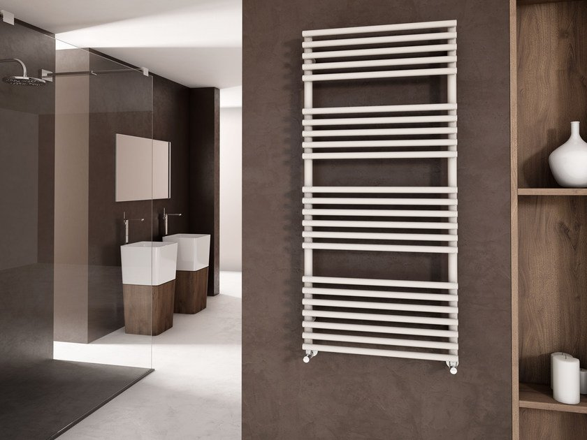 Vertical wall-mounted powder coated steel towel warmer GLORIA | Powder coated steel towel warmer - CORDIVARI