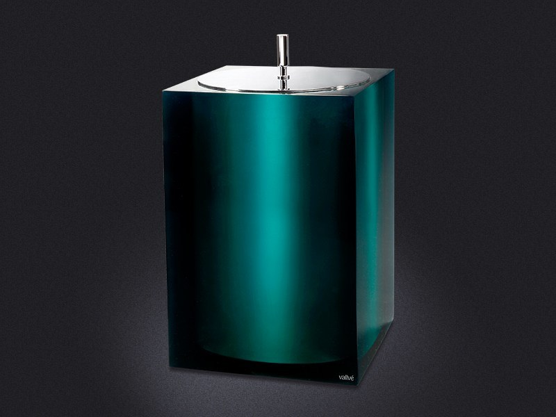 Resin bathroom waste bin GLOSS | Bathroom waste bin - Vallvé Bathroom Boutique