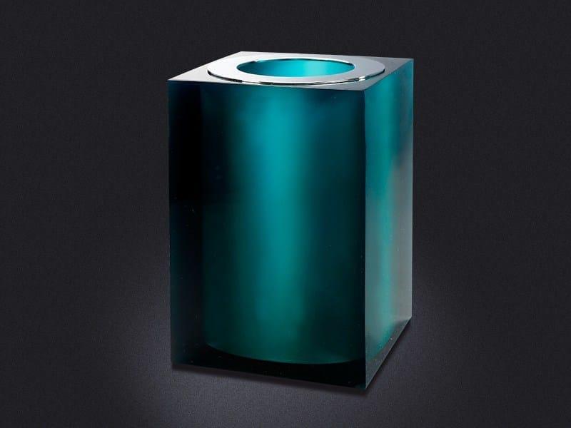 Resin bathroom waste bin GLOSS | Resin bathroom waste bin - Vallvé Bathroom Boutique