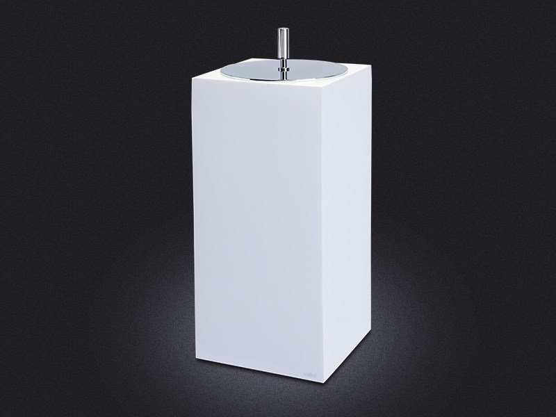 Resin bathroom waste bin GLOSS SMALL | Bathroom waste bin - Vallvé Bathroom Boutique
