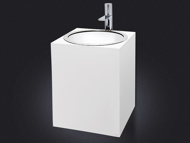 Wall-mounted resin washbasin GLOSS | Wall-mounted washbasin - Vallvé Bathroom Boutique