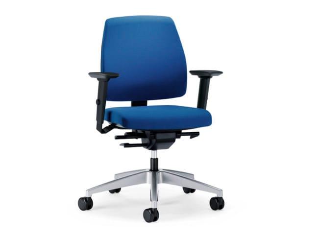 Sedie Da Ufficio Con Braccioli Senza Ruote : Sedia ufficio operativa ergonomica in tessuto con ruote goal g