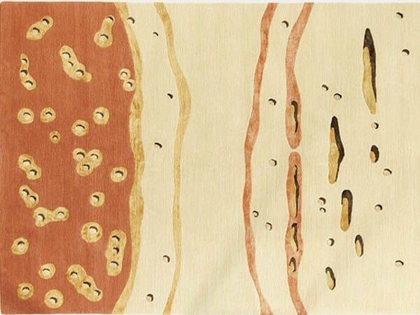 Handmade wool rug GOLDEN STONE by Deirdre Dyson