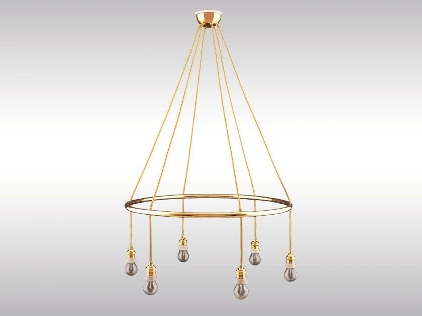 Classic style brass chandelier GOLDMAN ORIGINAL by Woka Lamps Vienna