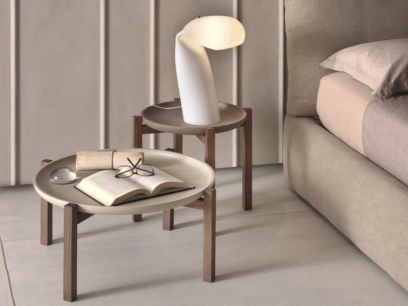 Tavolino rotondo con vassoio GONG by Pacini & Cappellini
