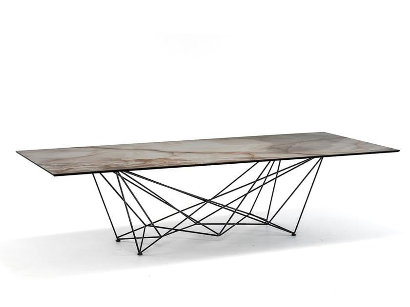 Rectangular ceramic table GORDON KERAMIK by Cattelan Italia