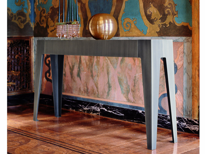 Rectangular mirrored glass console table GORKY | Mirrored glass console table - Fratelli Longhi