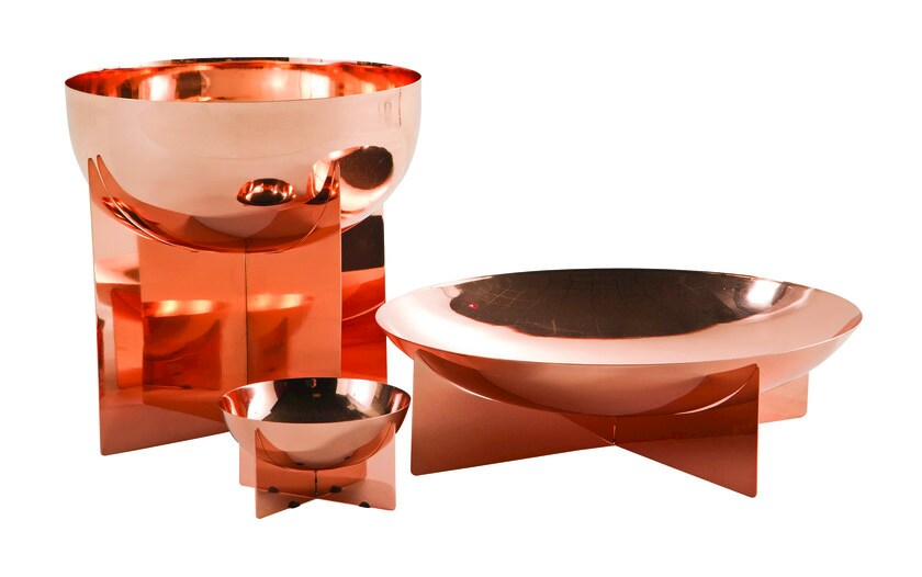 Stainless steel centerpiece GRAAL | Centerpiece - ROCHE BOBOIS