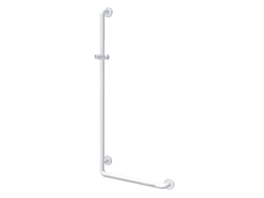 Powder coated aluminium shower grab bar L Shaped shower rail by Ropox